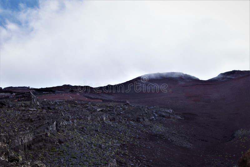 Vue à la crête de Fujisan, le mont Fuji, Japon photos libres de droits