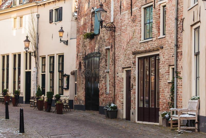 Vue à la ville néerlandaise antique Deventer photo libre de droits