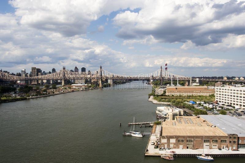 Vue à Manhattan de ville du Long Island dans l'été, New York City, Etats-Unis d'Amérique photo stock