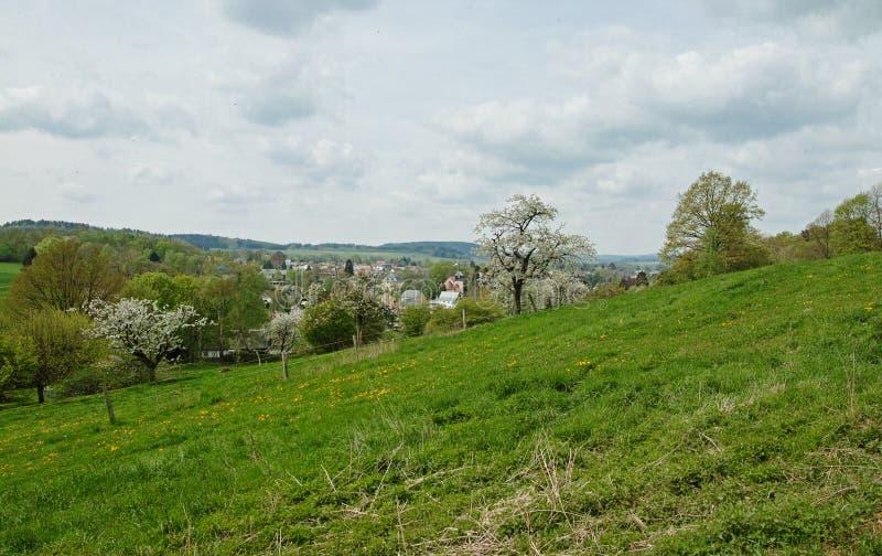 Vue à Neusalza Spremberg photo stock