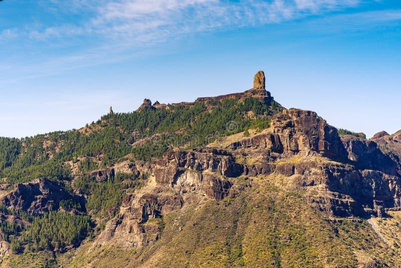 Vue à Roque Nublo, mamie Canaria, Espagne images libres de droits