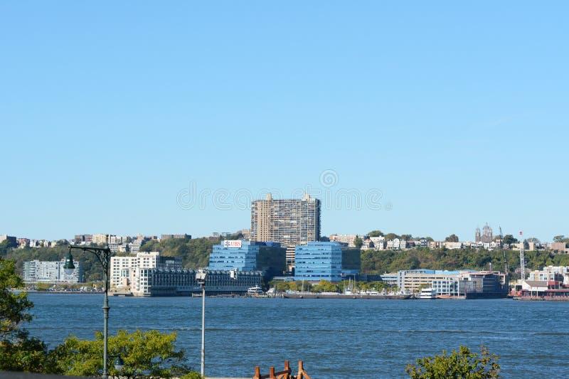Vue à travers Hudson River au New Jersey photo libre de droits