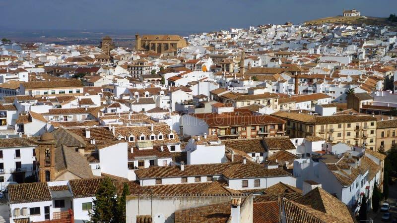 Vue à travers Spanish Town d'Antequera image libre de droits