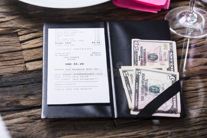 Vue élevée de Bill And Banknote images stock