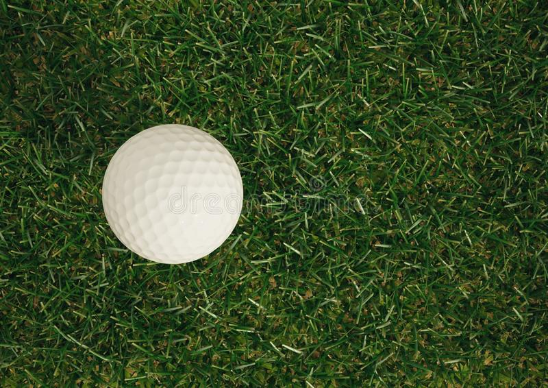 Vue élevée de boule de golf images stock