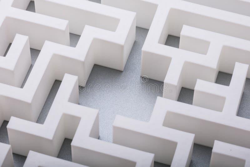 Vue ?lev?e de labyrinthe image libre de droits