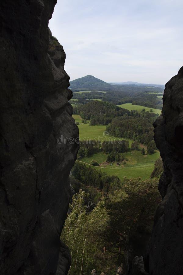 Vue élevée de paysage vert photographie stock