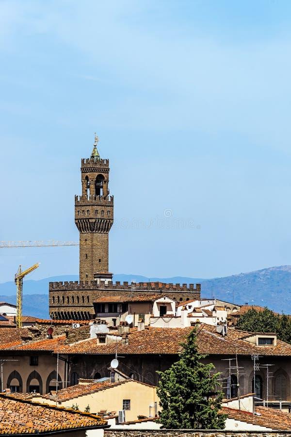 Vue éloignée du Palazzo Vecchio images stock