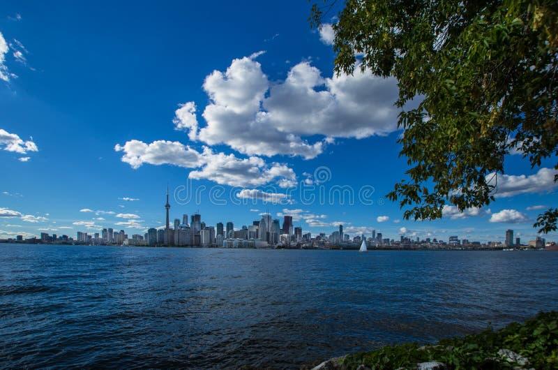 Vue étonnante d'été de ville de Canada de Toronto Ontario photo libre de droits