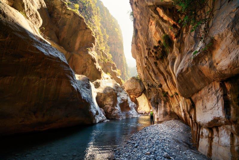 Vue étonnante de canyon de Goynuk photo stock