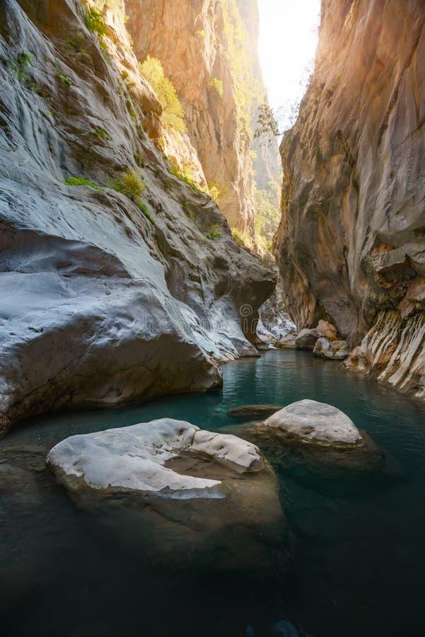 Vue étonnante de canyon de Goynuk images libres de droits
