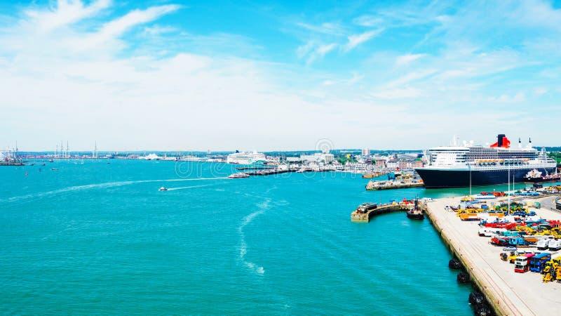 Vue étonnante de la ville Southampton image stock