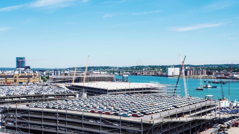 Vue étonnante de la ville Southampton images stock