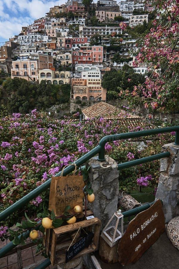 Vue étonnante de Positano photos libres de droits