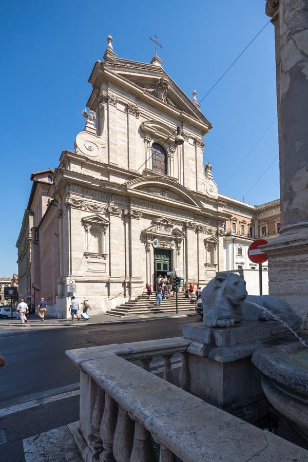 Vue étonnante des Di Santa Maria della Vittoria de Chiesa à Rome, Italie photographie stock libre de droits
