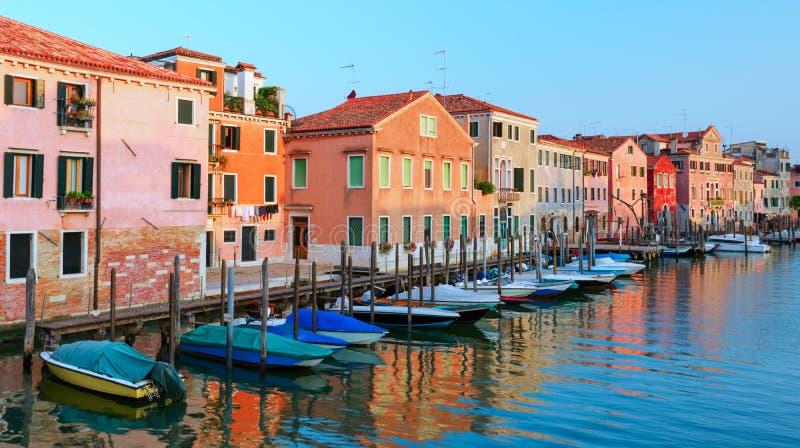 Vue étonnante le matin Venise images stock