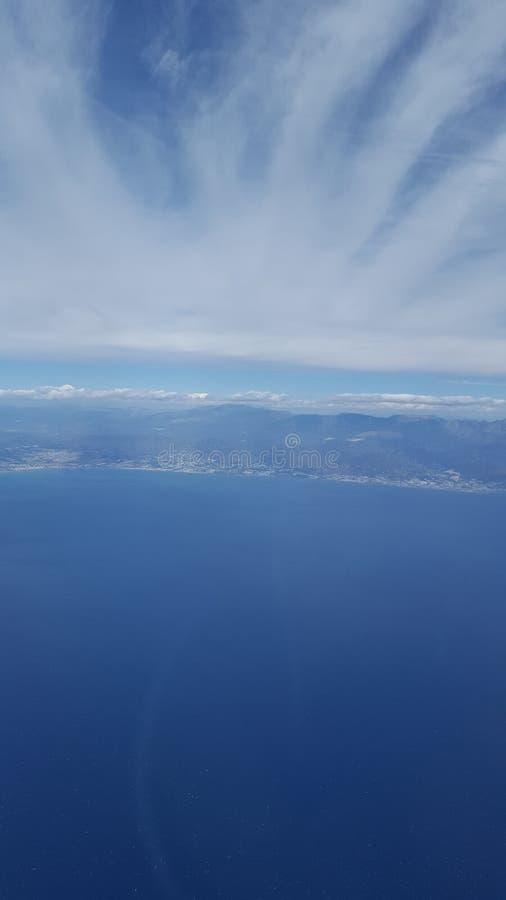 Vue самолета стоковые изображения rf