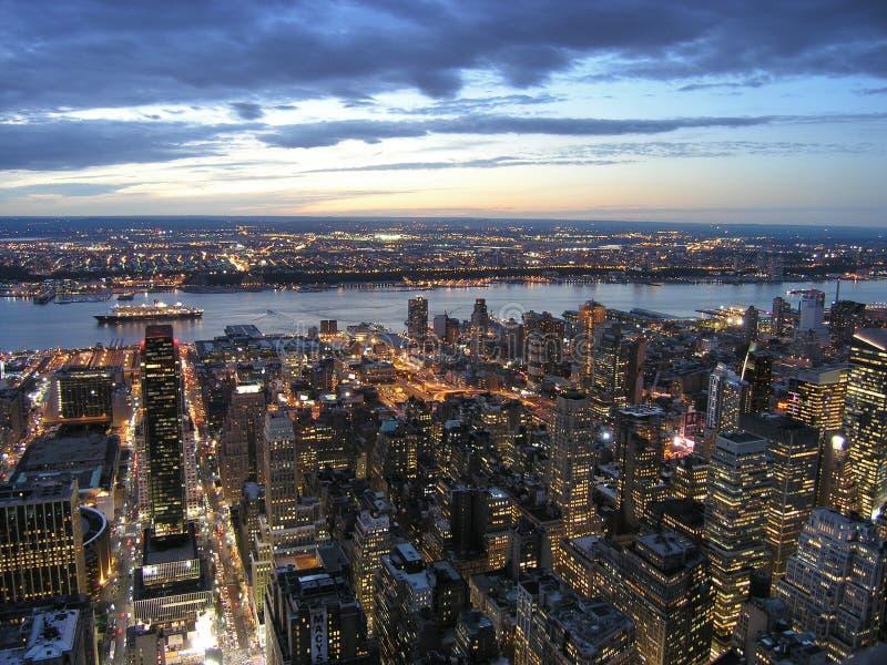 Vue 2 d'Empire State Building images libres de droits