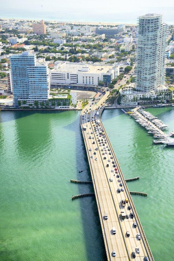 Vue aérienne à Miami images stock