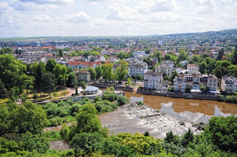 Vue aérienne au-dessus de Bad Kreuznach Allemagne photos stock