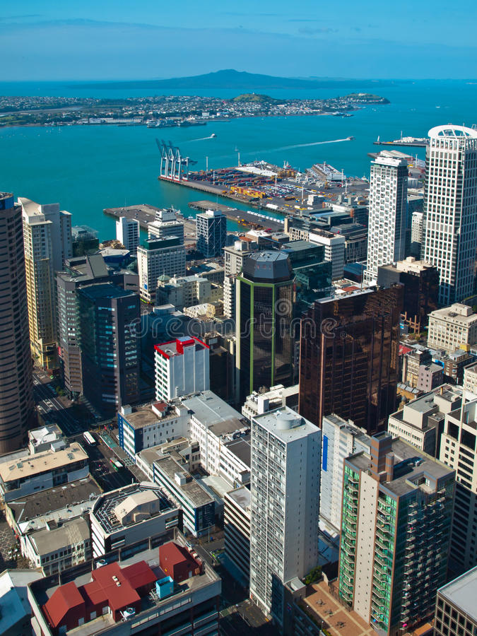 Vue aérienne Auckland photos libres de droits