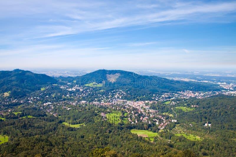 Vue aérienne Baden-Baden. images libres de droits