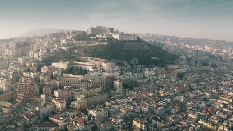 """Vue aérienne château de Castel Sant de """"Elmo à Naples, Italie photos stock"""