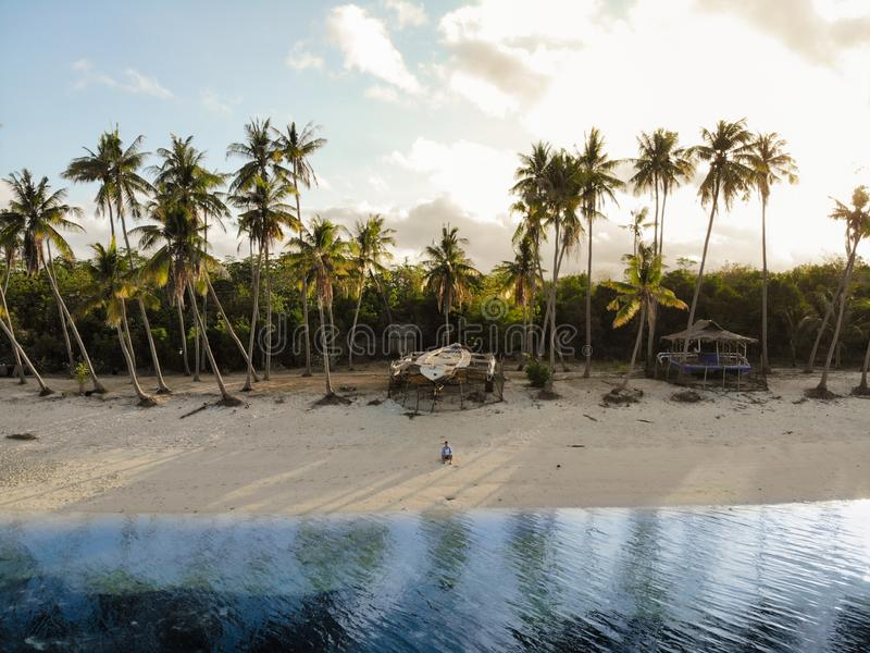 Vue aérienne d'île de Siquijor, les Philippines images stock