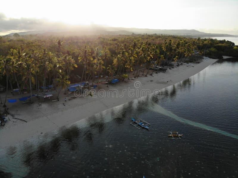 Vue aérienne d'île de Siquijor, les Philippines image libre de droits