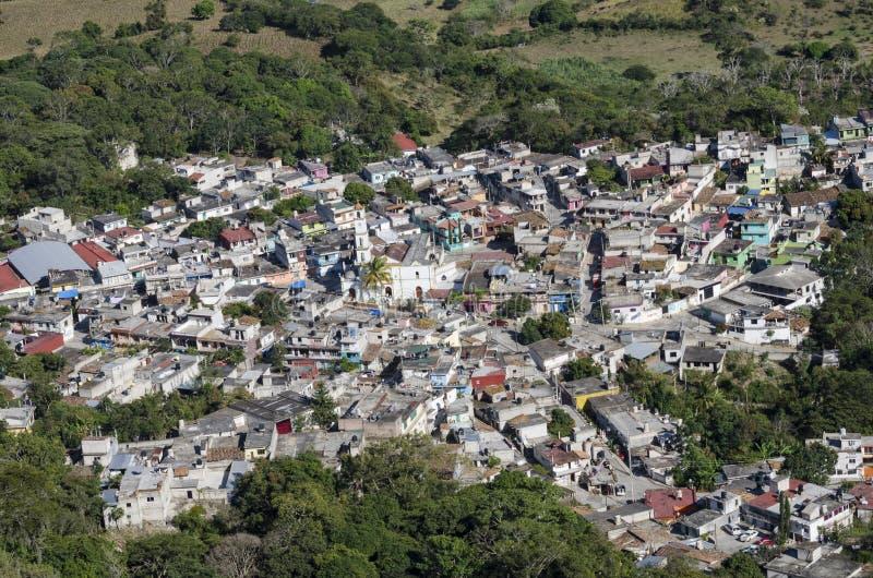 Vue aérienne d'Alto Lucero, Veracruz, Mexique photo libre de droits