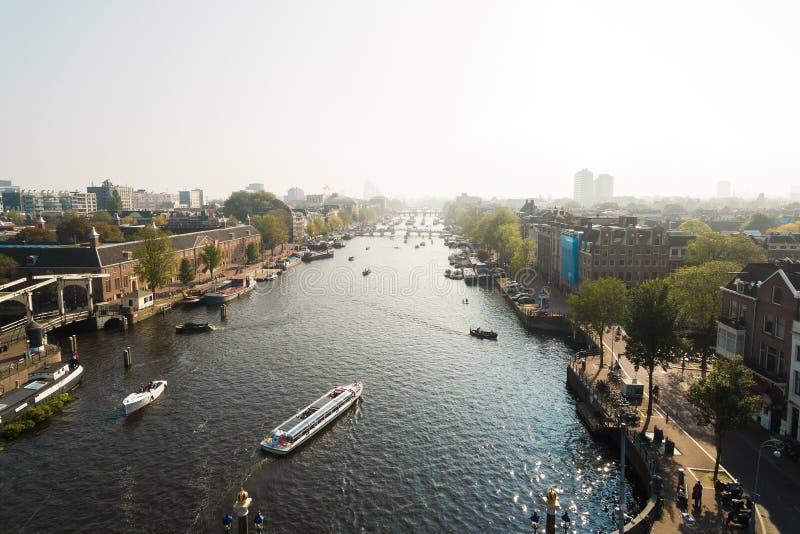 Vue aérienne d'Amsterdam photo stock