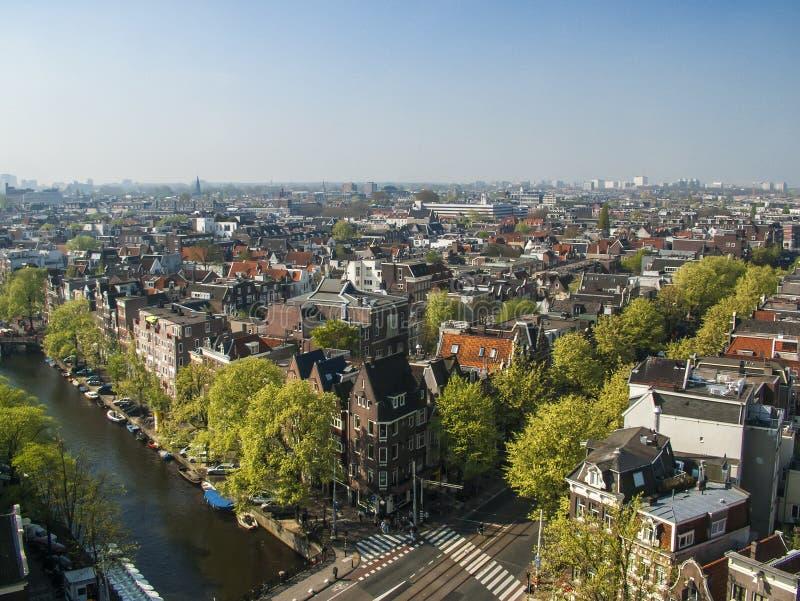 Vue aérienne d'Amsterdam photographie stock