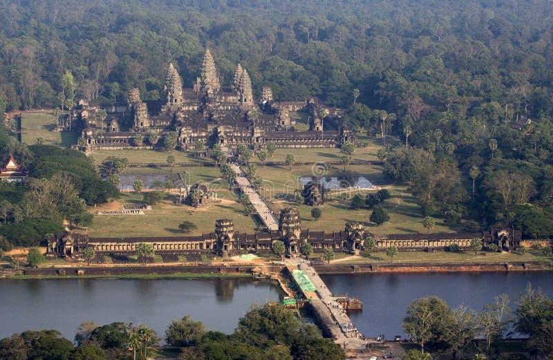 Vue aérienne d'Angkor Wat images stock