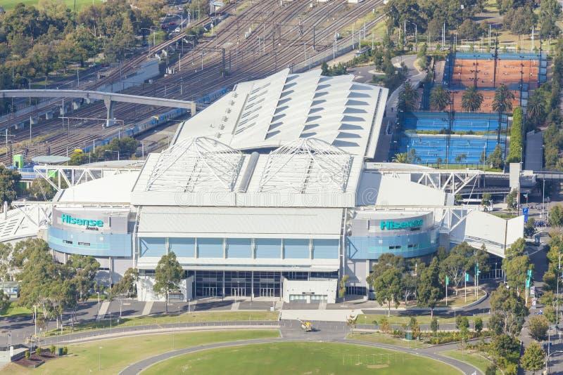 Vue aérienne d'arène de Hisense à Melbourne photos libres de droits
