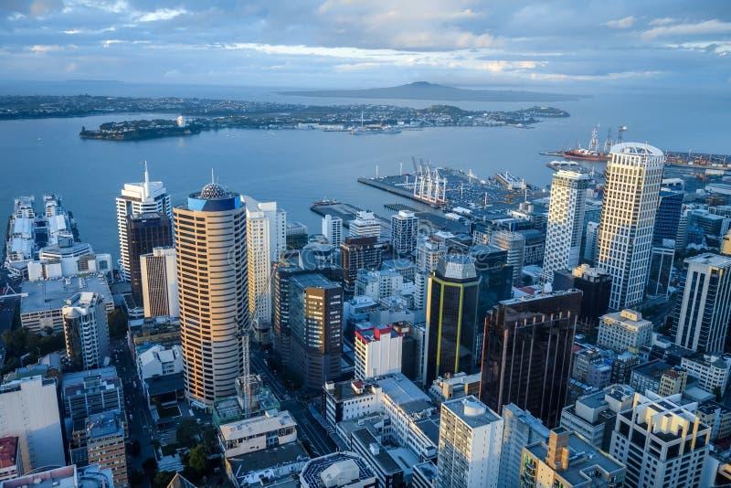 Vue aérienne d'Auckland, Nouvelle-Zélande image stock