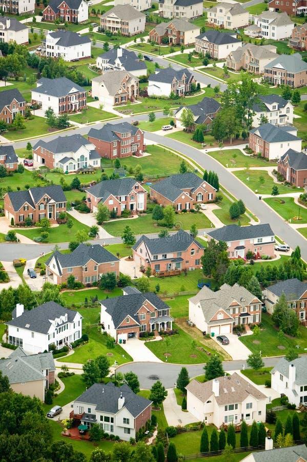 Vue aérienne d'ensemble immobilier privé à Charlotte, la Caroline du Nord photo libre de droits