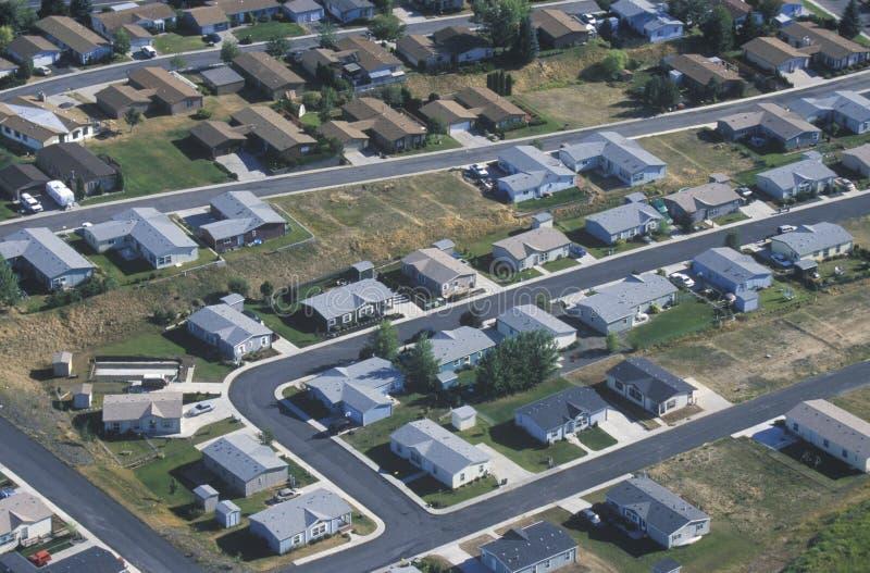 Vue aérienne d'ensemble immobilier privé, photo libre de droits