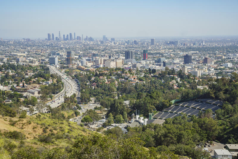 Vue aérienne d'horizon de Los Angeles images stock
