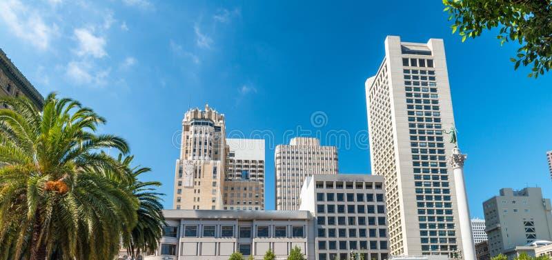 Vue aérienne d'horizon d'Union Square un jour ensoleillé photo libre de droits
