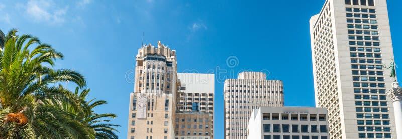 Vue aérienne d'horizon d'Union Square un jour ensoleillé photographie stock libre de droits