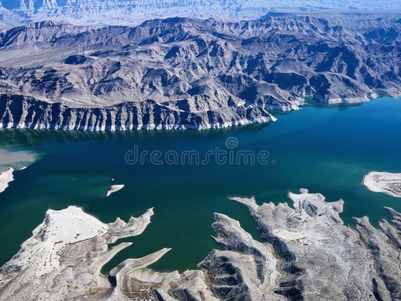 Vue aérienne d'hydromel de lac. photo libre de droits