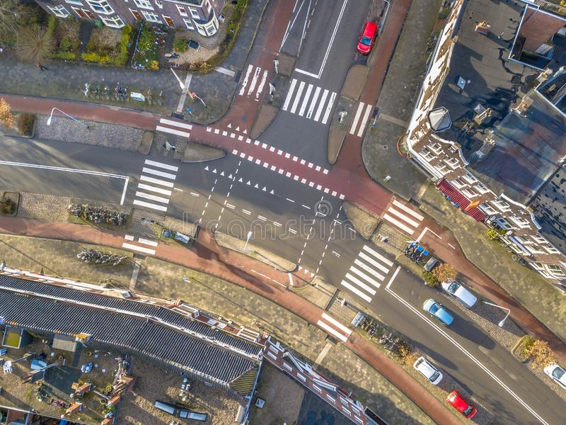 Vue aérienne d'intersection image libre de droits