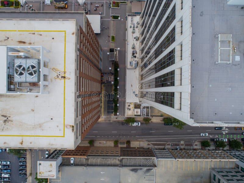 Vue aérienne d'oeil du ` s d'oiseau de bourdon de la ville de Raleigh, OR photo libre de droits