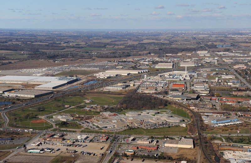 Vue aérienne d'Ontario du sud image libre de droits