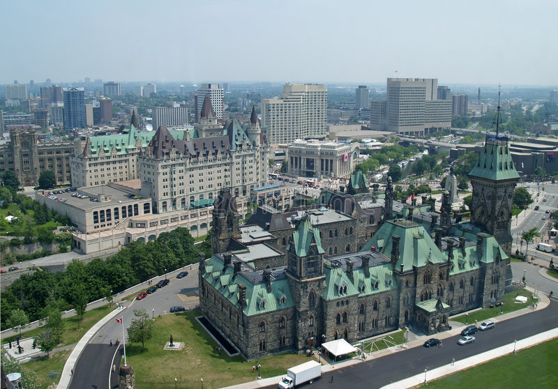 Vue aérienne d'Ottawa photo stock