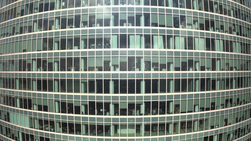 Vue aérienne d'un gratte-ciel générique de bureau illustration libre de droits