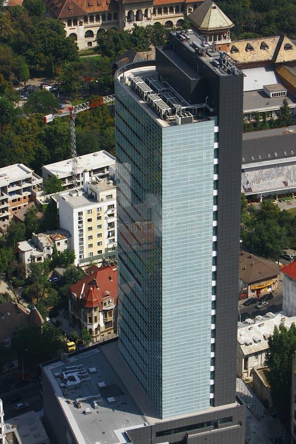 Vue aérienne d'un immeuble de bureaux image stock