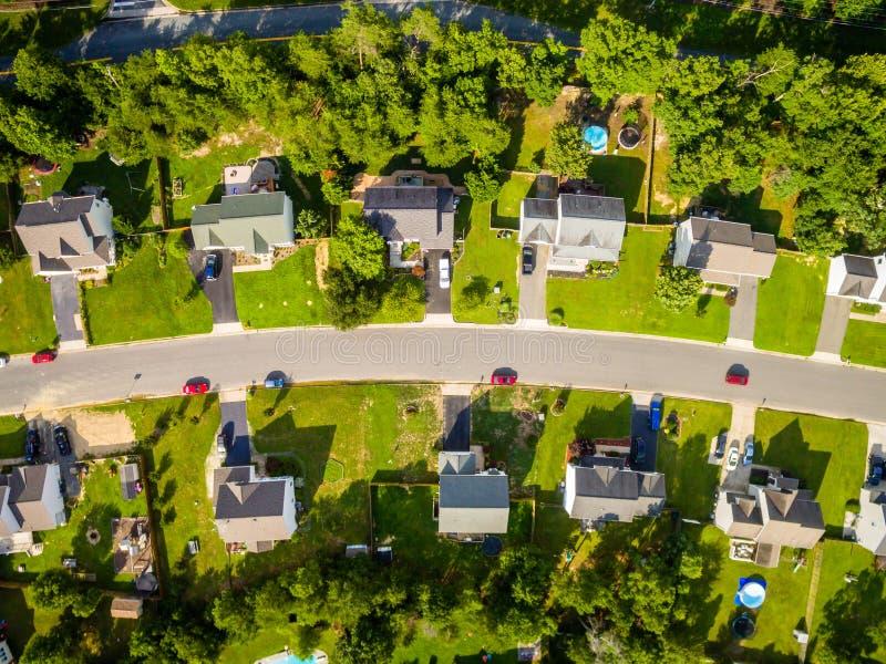 Vue aérienne d'un voisinage de coupeur de biscuit photos libres de droits
