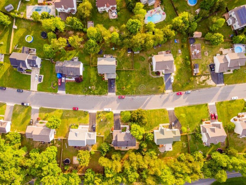 Vue aérienne d'un voisinage de coupeur de biscuit photographie stock