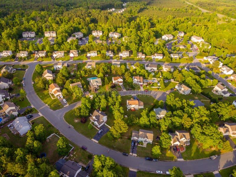 Vue aérienne d'un voisinage de coupeur de biscuit image stock